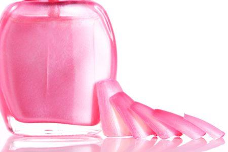 Pink Nails and Nail Polish photo