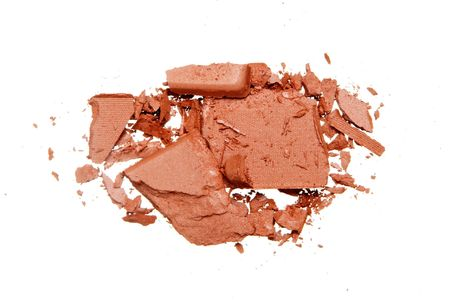 Crushed Eyeshadow isolated on white
