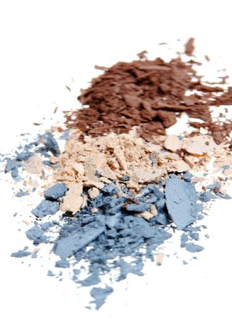 Crushed Eyeshadow isolated on white Stock Photo - 847645