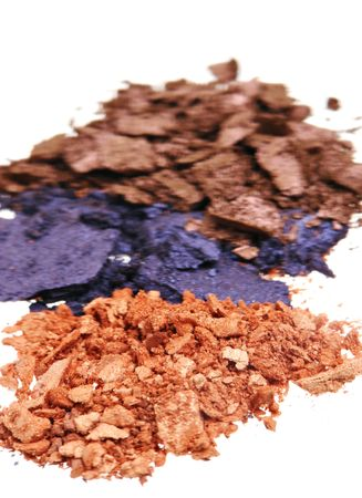 Crushed Eyeshadow isolated on white Stock Photo - 847624