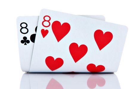 Pocket Eights isolated on white background photo