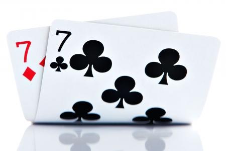 Pocket Sevens isolated on white background photo