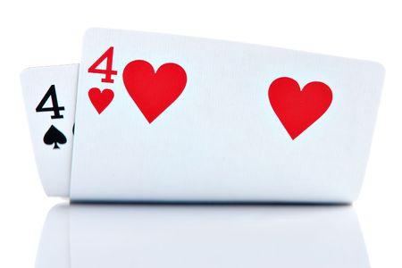 Pocket Fours isolated on white background photo