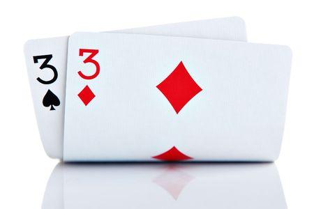 Pocket Threes isolated on white background photo
