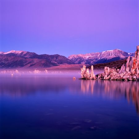Mono Lake panorama at sunrise