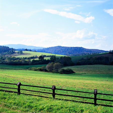 midday: Bieszczady scenic view at midday Stock Photo