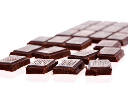 Dark chocolate bars on white background Stock Photo - 1215493