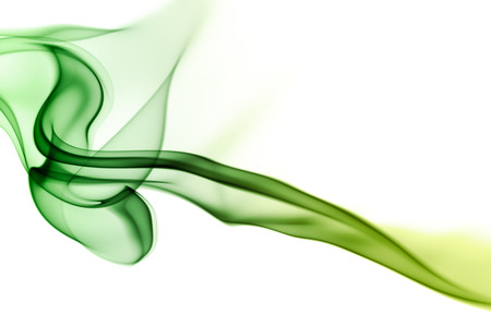 incense: Abstract smoke in white background Stock Photo