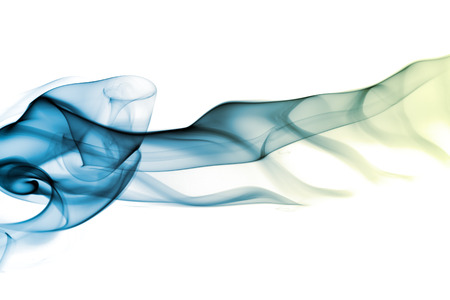 Abstract smoke in white background Imagens