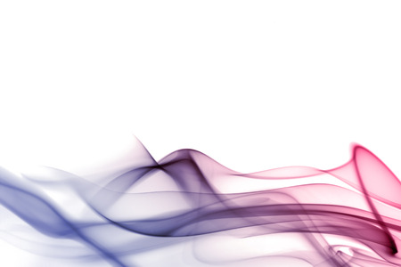 Abstract smoke in white background photo