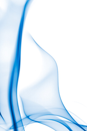 Blue Abstract smoke in white background