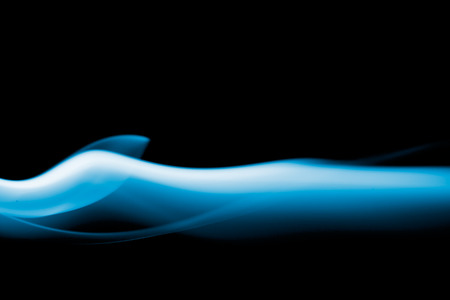 Abstract smoke in black background photo