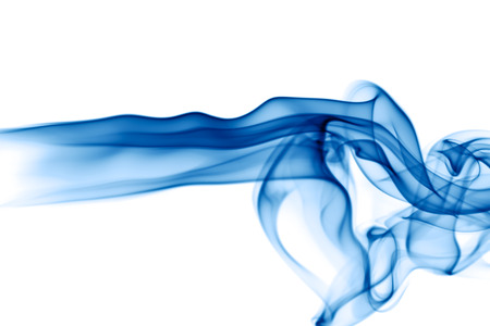 smell of burning: Abstract smoke on white background Stock Photo
