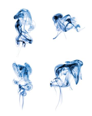 Résumé de fumée sur fond blanc Banque d'images - 1440303