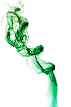 incense: Abstract smoke isolated on white background Stock Photo