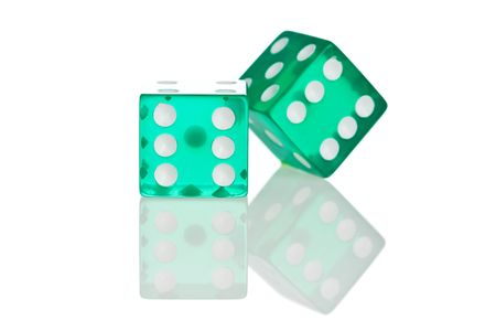 odds: Dice isolated on white background