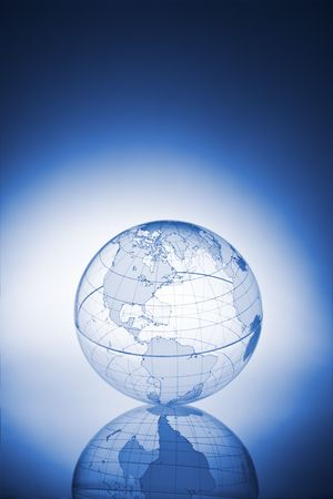 Translucent globe with backlit background Imagens - 1848869