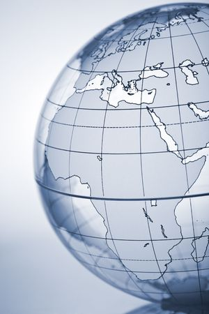 Translucent globe with backlit background