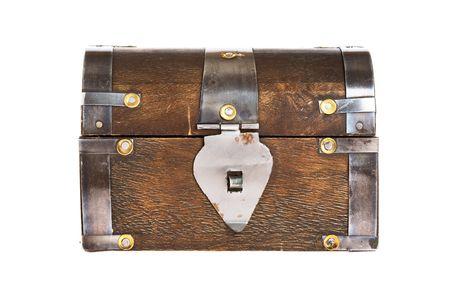 treasure chest: Treasure Chest on white background