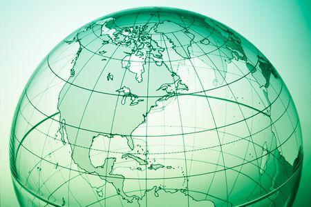 backlit: Groene wereld bol met verlichte licht