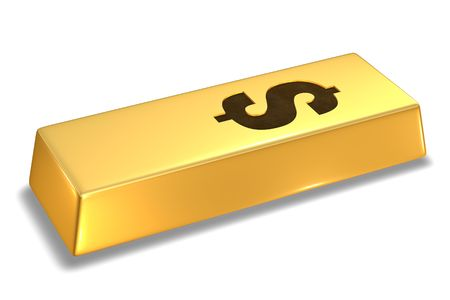 Gold Bar with dollar sign