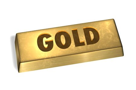 Gold Bar with gold sign