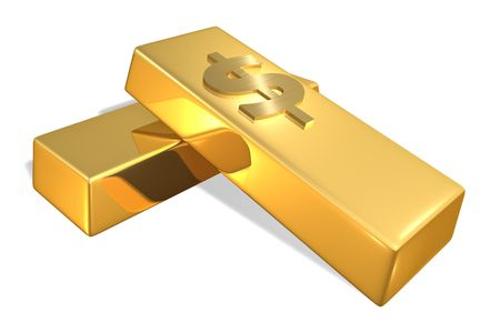 Gold Bars with dollar sign