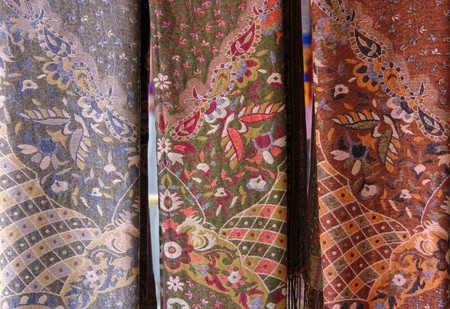 counterpane: Textile fabrics of different colors