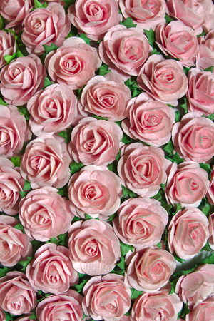 objec: fake roses lot of artificial flowers Stock Photo