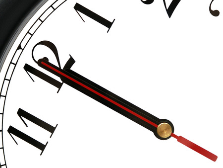 The twelfth hour on the clock. New Year