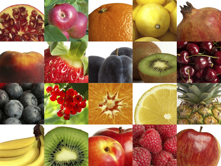 Composition of different fruits.
