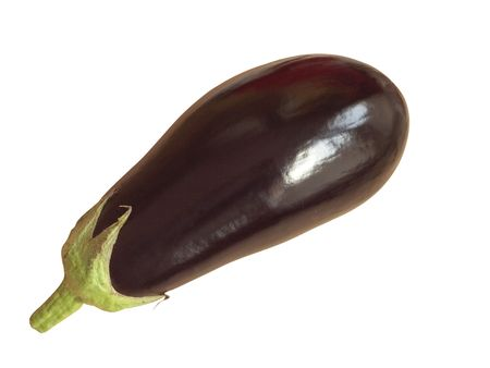 Eggplant or aubergine on a white background