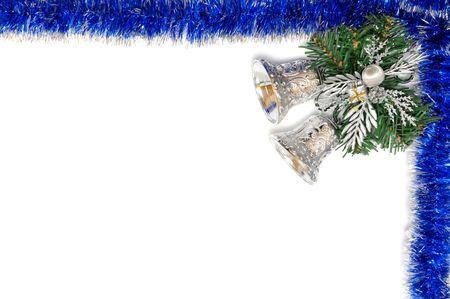 Christmas frame isolated on white background. photo
