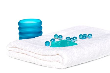 Spa or bath accessories, spa and body care background.