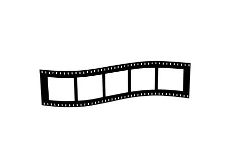 negatives: Film strip roll isolated on white background.