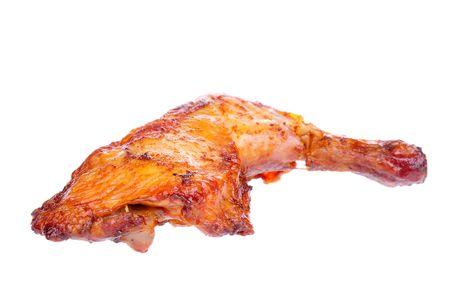 Baked chicken isolated on the white background. Stock Photo - 6642059