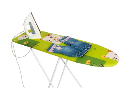 Ironing board in the white background. photo