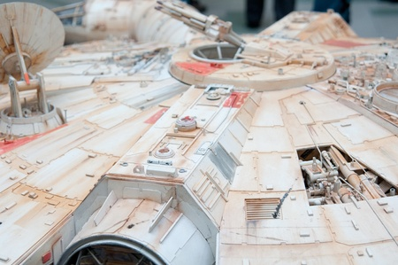 Star Wars fans rally, Poland, Torun, September 10, 2011, Milenium Falcon Stock Photo - 10544128