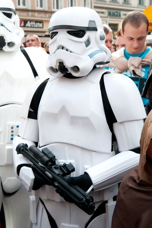 stormtrooper: Star Wars fans rally, Poland, Torun, September 10, 2011 Editorial