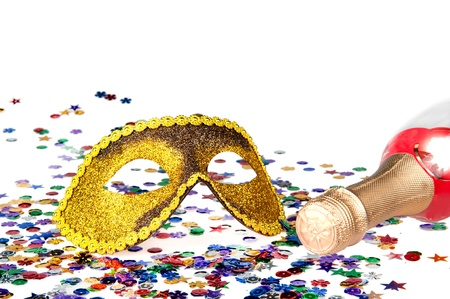 Happy new year background with carnival mask Stock Photo - 11809969