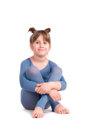 Beautiful little girl in workout clothes   Stock Photo - 14188738