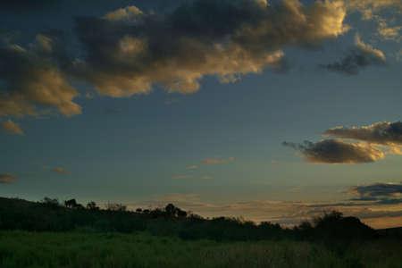 landscape sunset sky clouds