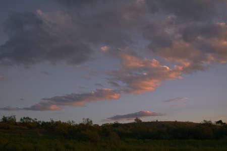landscape sunset sky clouds Reklamní fotografie
