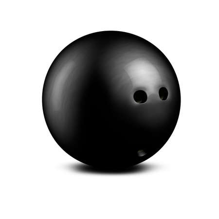 3d render of a black bowling ball isolated on white background