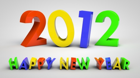 3d concept of upcoming 2012 year