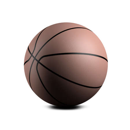 Basketball made of rubber Stock Photo