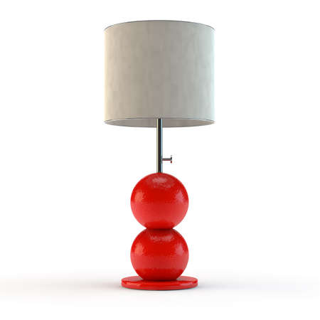 Modern lamp made of color material