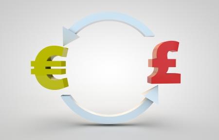 currency exchange: 3d render of currency exchange concept