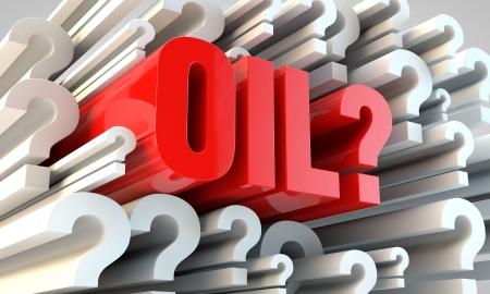 predicting: Financial concept - predicting oil price