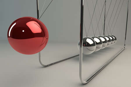 pendulum: Chrome balancing spheres know as Newtons Cradle (pendulum)